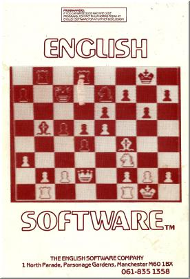 """The English Software Company"" picture taken from back of User Manual"