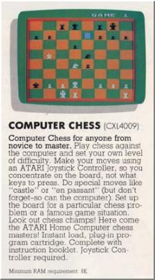 """Computer Chess (1979)"" is the same program.  Advert taken from an ATARI catalog."