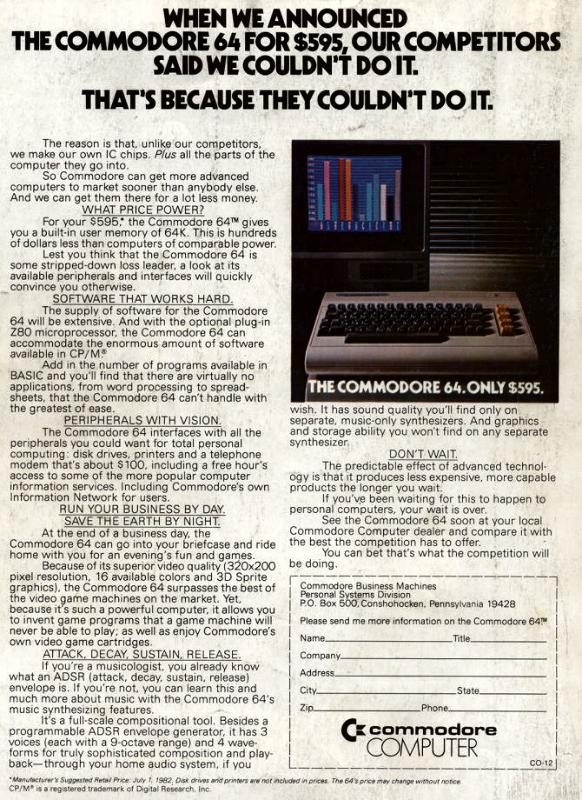 """Commodore 64"" Advertisement"