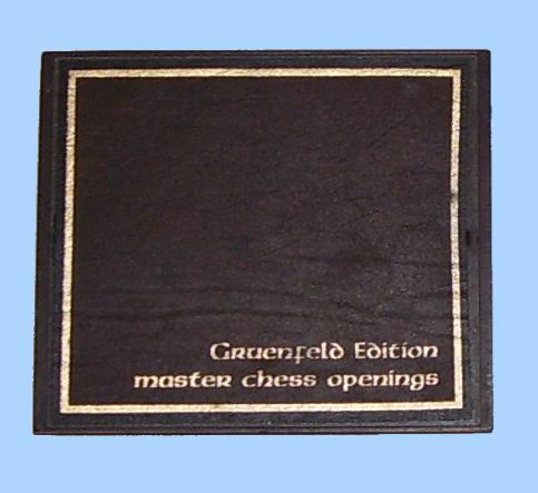 Chafitz Gruenfeld Chess Openings Module (1981) Suitable for Chaftz MGS Modular Game System and GGM Great Game Machine Chess Computers