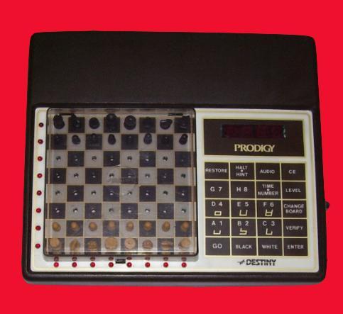 Chafitz Destiny Prodigy (1981) Blue Version Electronic Travel Chess Computer