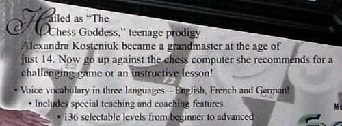 Alexandra Kosteniuk - The Chess Goddess teenage prodigy.