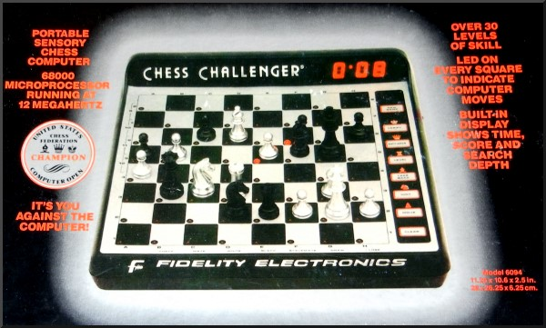 FIDELITY EXCEL 68000 Electronic Chess Computer -  picture taken from box.