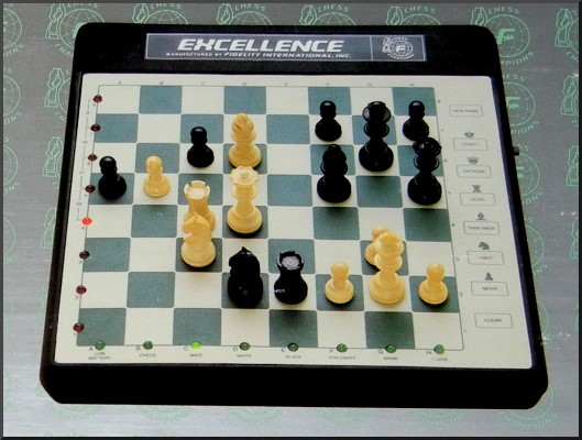 FIDELITY EXCELLENCE MODEL EP12 Electronic Chess Computer -  picture taken from box.