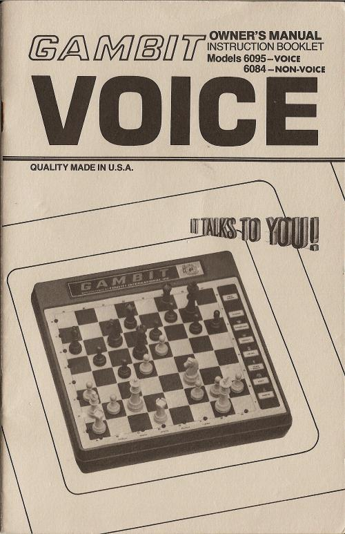 FIDELITY GAMBIT VOICE User Manual  Model 6095 VOICE MODEL