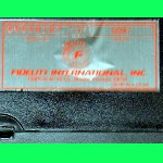 Fidelity Model 6097 Excel 68000 Mach II C+ LA Version (1988) Computer Label