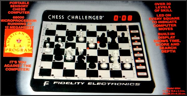 FIDELITY EXCEL 68000 MACH II C+ L. A.  VERSION Electronic Chess Computer -  picture taken from box.