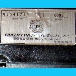 Fidelity Model 6098 Excel Mach III Master (1988) Computer Label