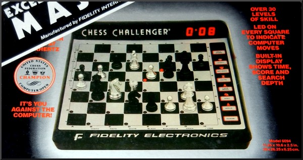 FIDELITY MACH III MASTER Electronic Chess Computer -  picture taken from box.