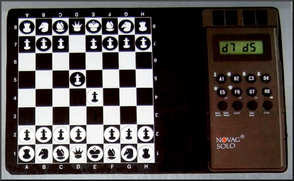 NOVAG SOLO Electronic Travel Chess Computer -  picture taken from box.